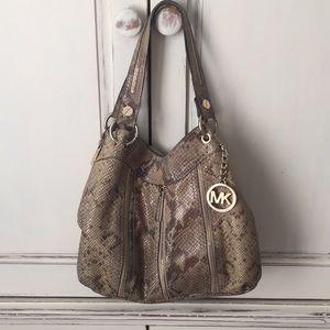 Michael Kors python -leather Hobo Bag